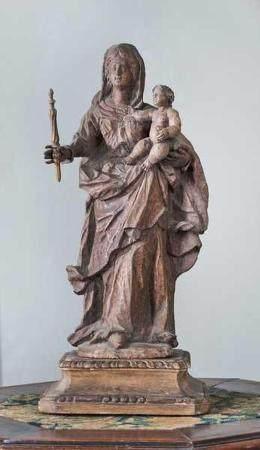 Vierge à l'Enfant avec quenouille.