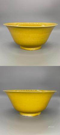 Chinese Imperial Yellow-Glazed Bowls