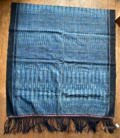 Indonesian Indigo Dye Shawl