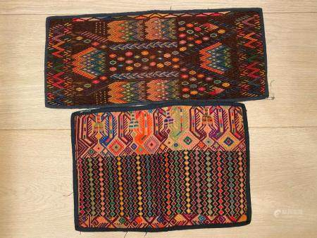 Myanmar needle stictch Textiles, two pieces