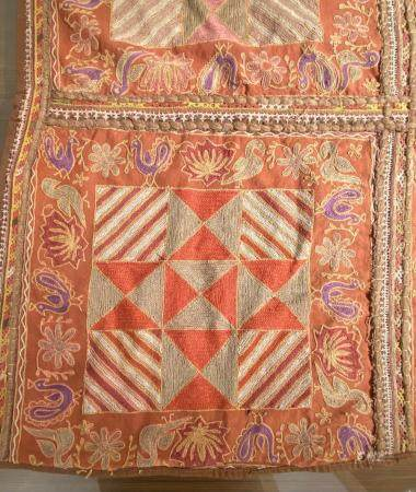19th century. Gujarat or Sindh Dessert Chain Stitch Textile