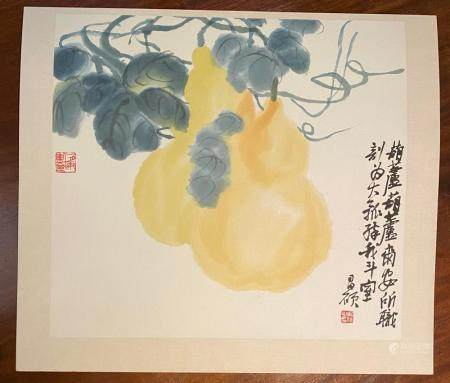 Wu Changshuo Chinese Set of Four Print