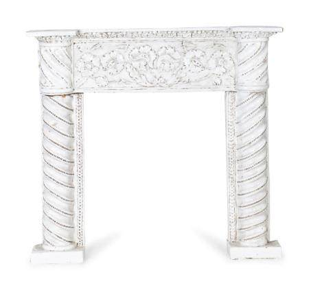 A Continenental Glazed Terracotta Fireplace Surround Height 41 x length 43 x depth 6 inches.