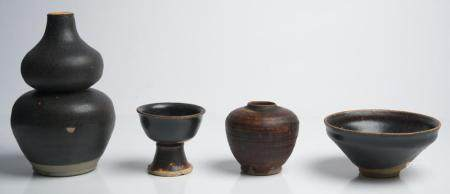 FOUR CHINESE BLACK-WARES SONG (960-1279) AND YUAN DYNASTY (1279-1368)