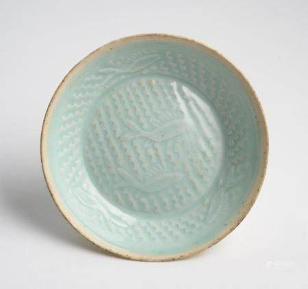 A CHINESE QINGBAI MOULDED BRUSH WASHER SOUTHERN SONG DYNASTY (1127-1279)