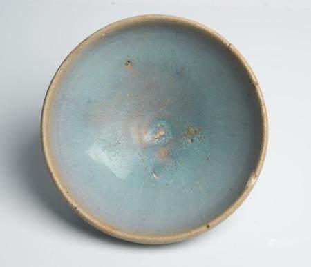 A CHINESE JUNYAO SKY-BLUE BOWL YUAN DYNASTY (1279-1368)