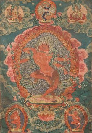 Thangka Depicting Yamantaka