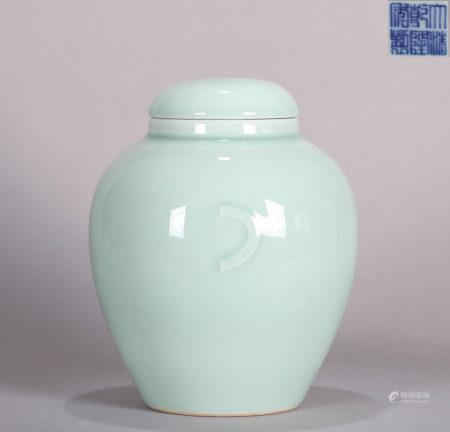 Celadon Glazed Jar