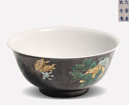 Famille Verte Biscuit Bowl Kangxi Style