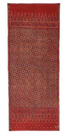 Antique Tulis Batik Skirt Cloth, Indonesia, 19th C.
