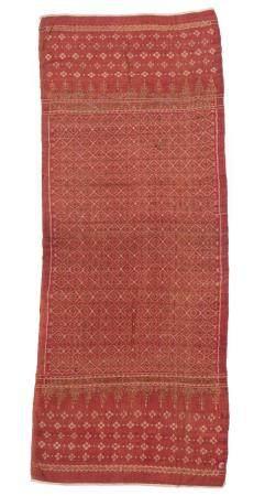 Antique Silk Ikat Shoulder Cloth Limar, Early 19th C.