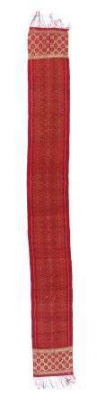 Antique Endek Songket Shoulder Cloth with Ikat