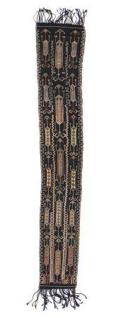 Old Indonesian Textile with Human Figure Motif