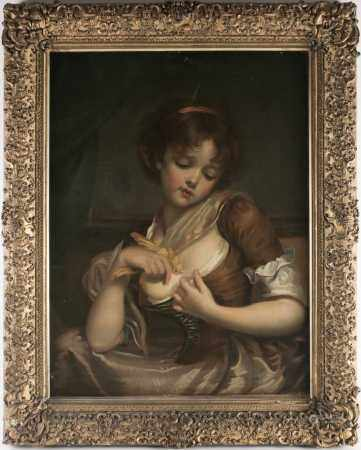 Manner of Jean-Baptiste Greuze (1725-1805), a late 19th or early 20th century portrait of a young