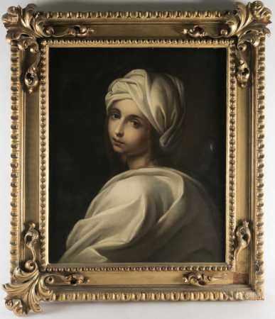 After Guido Reni (1575-1642) Italian, 'Portrait of Beatrice Cenci', 19th century oil on canvas, 60