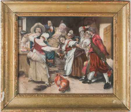 Follower of Ferdinand Roybet (1840-1920), a 1960s reproduction of 'Le Main Chaude' [The Hot Hand],