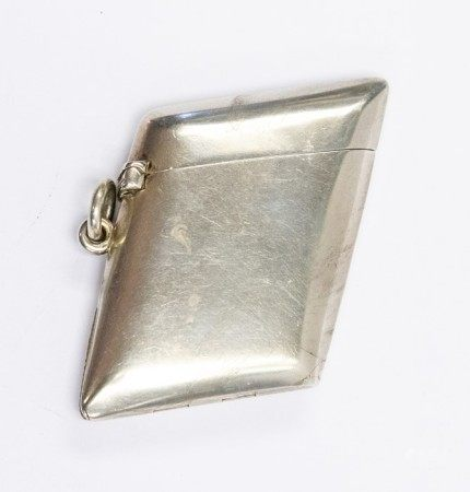 Sampson & Mordan, a silver combination vesta, the parallelogram form of plain design, the hinged