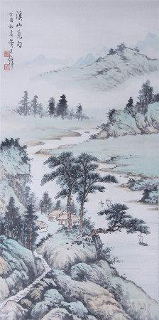 近現代 黃君璧 山水