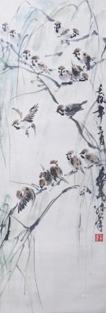 近現代 黃胄 花鳥