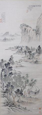 近現代 吳青霞、陶冷月合作 山水