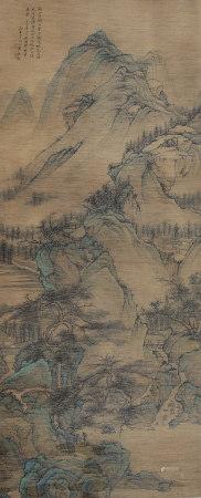 清代 王翚  萬壑松風圖