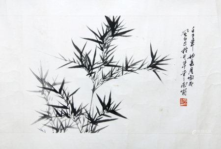 當代 蔣風白 竹