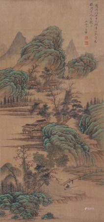 清代 王翚 青綠山水