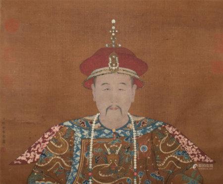 清代 郎世寧 皇帝像