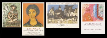W.Spitzer、A.Minoux、Raoul Dufy、Bernard Cathlin  展覽海報共四張