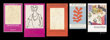 亨利·馬諦斯  展覽海報五張