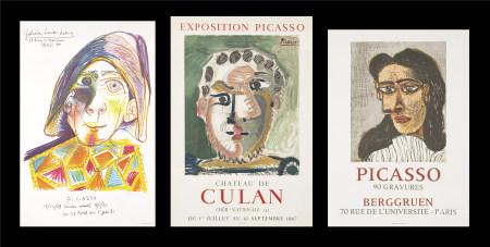 巴勃羅·畢卡索  展覽海報三張