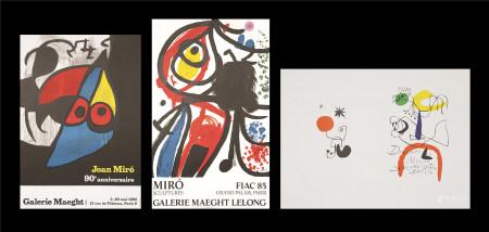 胡安·米羅  展覽海報三張