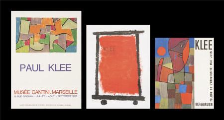保羅·克利  展覽海報三張