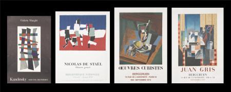 康丁斯基、斯塔埃爾、格里斯*2  展覽海報共四張