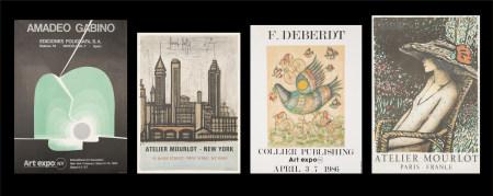 畢費、Francoise Deberdt、卡西紐爾、加比諾  展覽海報共四張