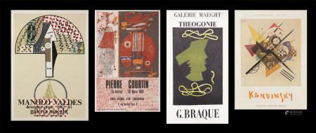 Pierre Courtin 、布拉克、康丁斯基、華迪斯  展覽海報共四張