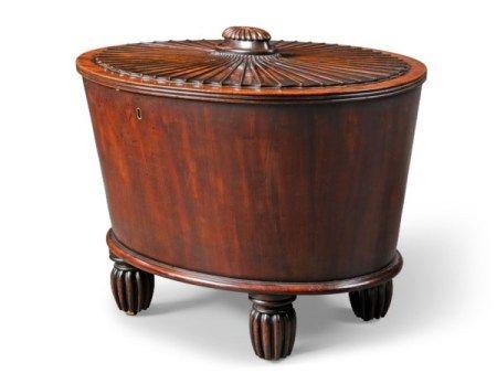 A WILLIAM IV MAHOGANY WINE COOLER CIRCA 1830