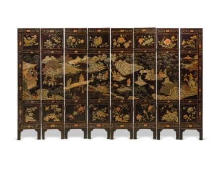 A CHINESE COROMANDEL LACQUER EIGHT-FOLD SCREEN LATE 19TH/EARLY 20TH CENTURY