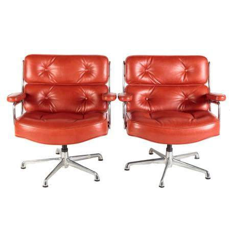 Pair of Charles & Ray Eames for ICF Swivel Chairs