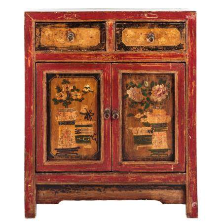 Asian Style Painted Softwood Cabinet