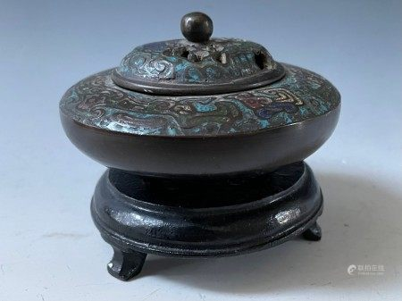 Group of Two Incense Burners One with Stand and One Tripod