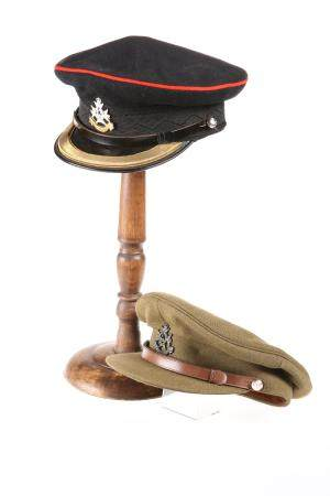 TWO POST-1952 FIELD OFFICERS' PATTERN PEAKED CAPS