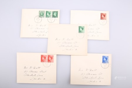 FIVE 1936 FIRST DAY COVERS