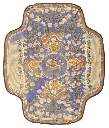 2pc Chinese Qing Dragon Kesi Silk Panels
