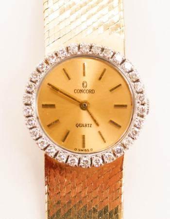 Lady's Concord 14k Diamond Wristwatch