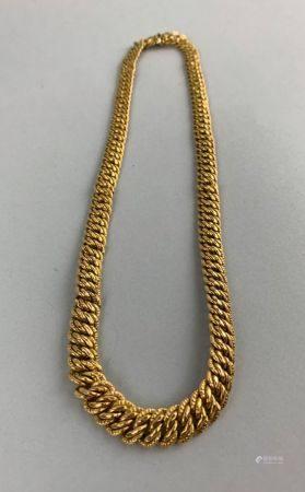 Collier en or jaune (750 millièmes) maille articulée Longueur : 43.5 cm  Poids : 25 g