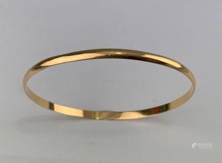 Bracelet jonc en or jaune (750 millièmes) Poids : 9.1 g.