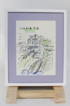 2010年 安藤忠雄 手绘水彩画