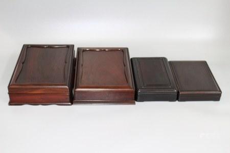 民国 红木砚盒4个
