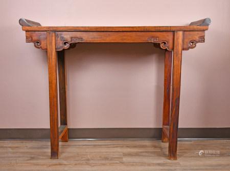 A Hardwood Altar Table, 20th C